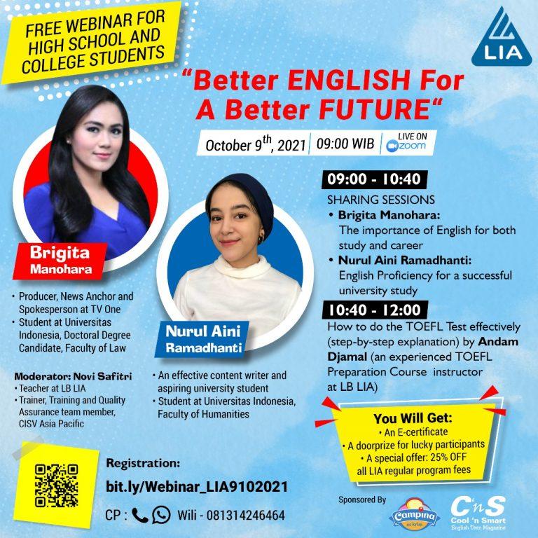 Better English a better future